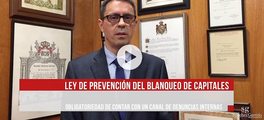 Ley de prevencion de blanqueo de capitales explicacion video