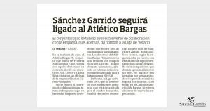 Sánchez Garrido Abogados renueva al Atlético Bargas