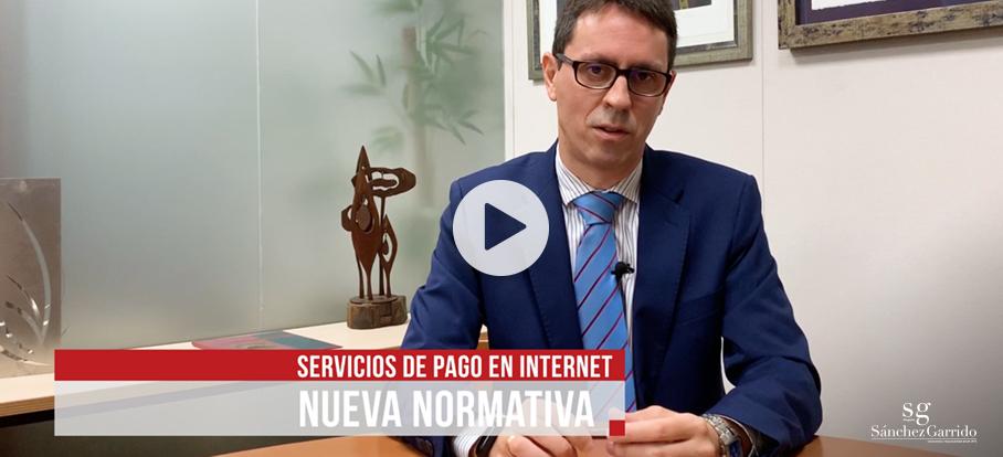 Normativa sobre servicios de pago en Internet