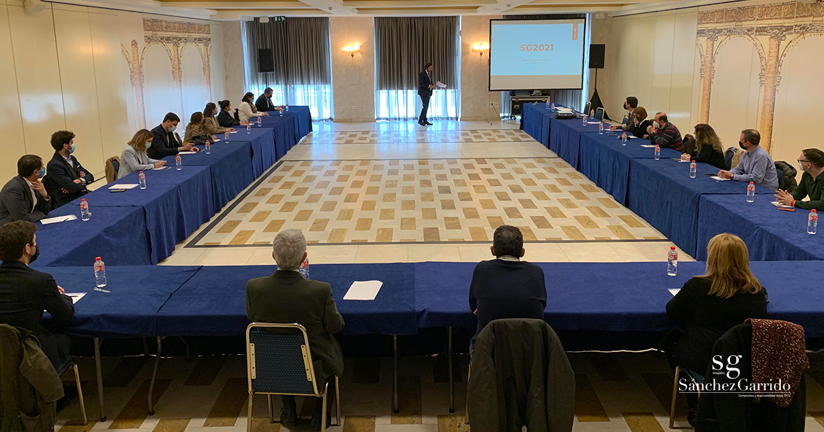 Sánchez Garrido Abogados celebra su convención anual de 2021 en el Hotel Beatriz Auditotium & Spa para repasar el 2020 y planificar este nuevo año.